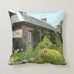 English Cottage II with Flower Garden Photography Throw Pillow