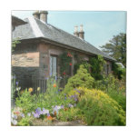 English Cottage II with Flower Garden Photography Tile