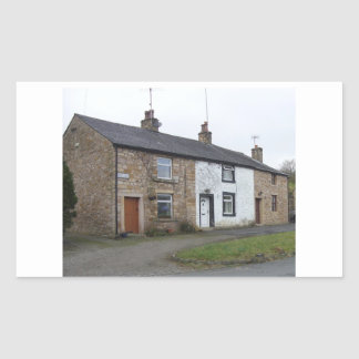 English cottages rectangle sticker