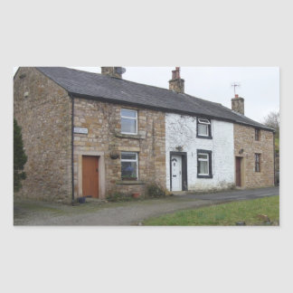 English cottages rectangular stickers