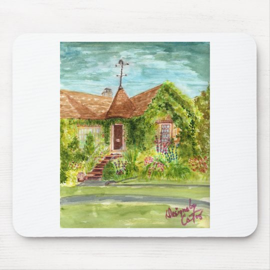 English Country Cottage Mouse Pad