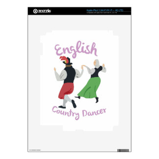 English Country Dancer Decals For iPad 3
