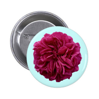 English Country Garden Frilly Red Rose Button