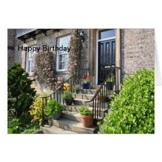 English Country Garden Happy Birthday Card