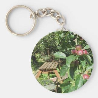 English country garden keychain