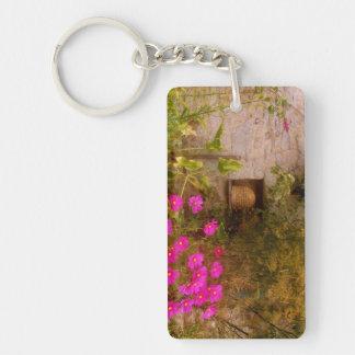 English Country House Garden in Summer Keychain