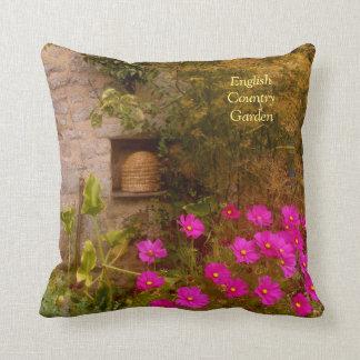 English Country House Garden in Summer Pillow