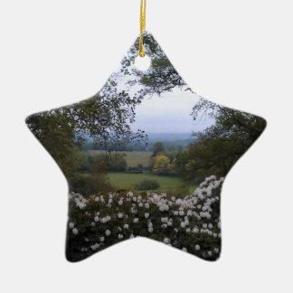 English Countryside Ceramic Ornament