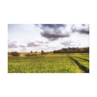 English Countryside Landscape Canvas Print
