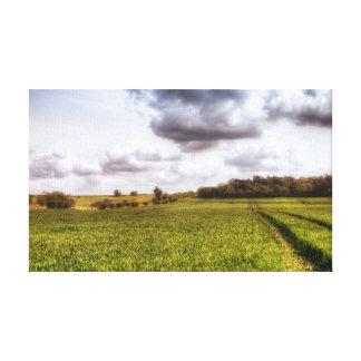 English Countryside Landscape Canvas Print