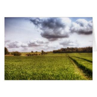English Countryside Landscape Card