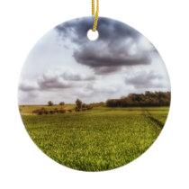 English Countryside Landscape Ceramic Ornament