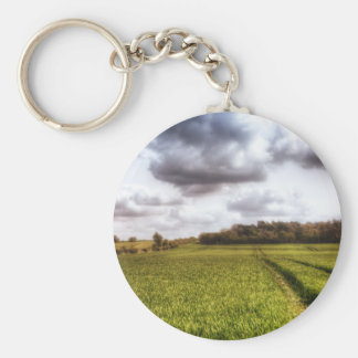 English Countryside Landscape Keychain