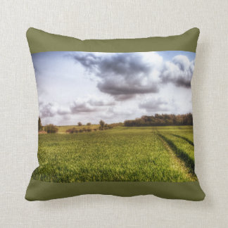 English Countryside Landscape Pillow