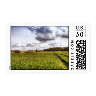 English Countryside Landscape Postage