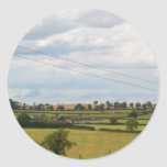 English Countryside Pictures Foxton Locks (2) Round Stickers