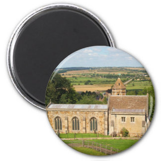 English countryside pictures Rockingham Castle (3) 2 Inch Round Magnet
