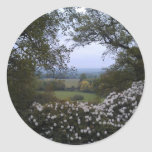 English Countryside Round Sticker