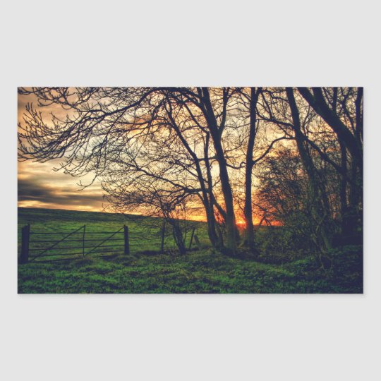 English Countryside Sunset HDR art stickers