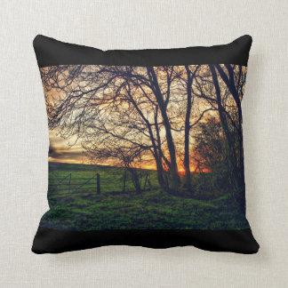 English Countryside Sunset HDR Mojo Pillow