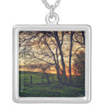 English Countryside Sunset HDR Necklace