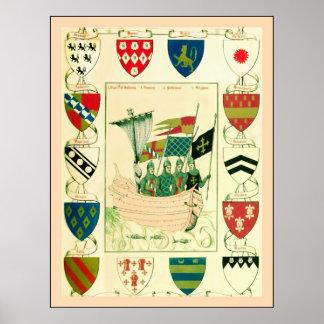 English Crusaders Poster