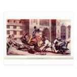 English Dance of death postcard 23