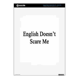English Doesn't Scare Me iPad 3 Skins