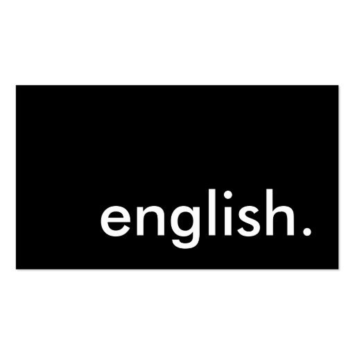 english. Double-Sided standard business cards (Pack of 100)