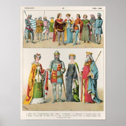 English Dress Poster
