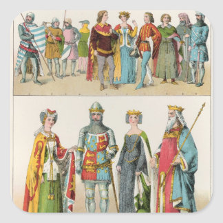 English Dress Square Sticker