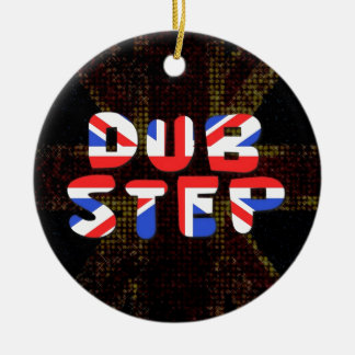 English Dub Step Double-Sided Ceramic Round Christmas Ornament