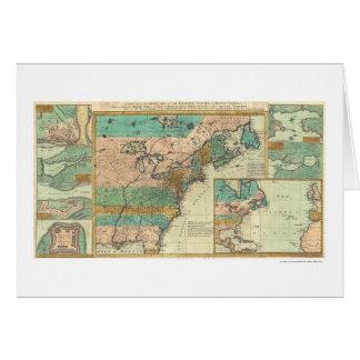 English Empire America Map - 1755 Card