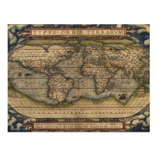 English Empire Map Postcard