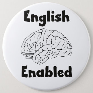 English Enabled brain Button