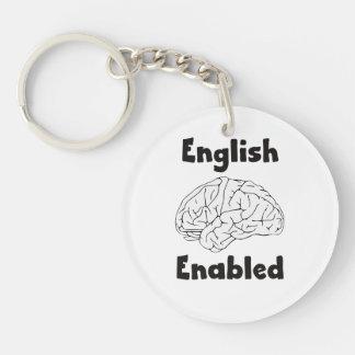 English Enabled brain Keychain