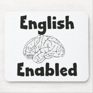 English Enabled brain Mouse Pad