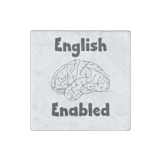 English Enabled brain Stone Magnet