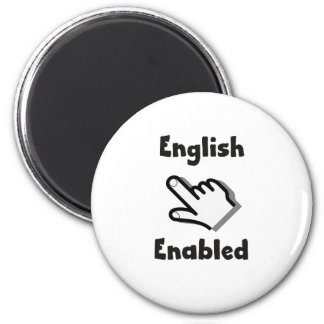 English Enabled hand Magnet