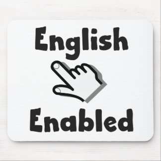 English Enabled hand Mouse Pad