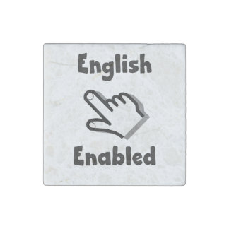 English Enabled hand Stone Magnet