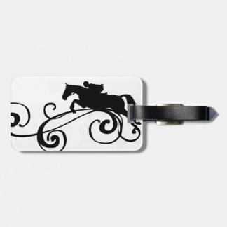 English Equestrian Flourish Bag Tag
