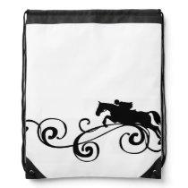 English Equestrian Flourish Drawstring Backpack