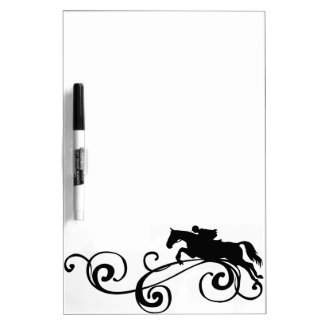 English Equestrian Flourish Dry Erase Board