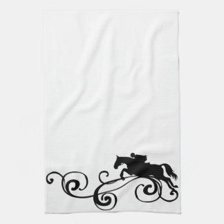 English Equestrian Flourish Kitchen Towel