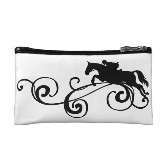 English Equestrian Flourish Makeup Bag