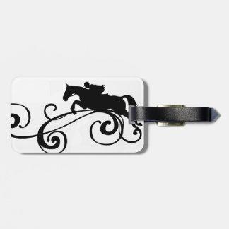 English Equestrian Flourish Tag For Luggage
