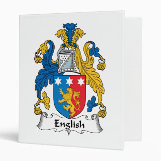 English Family Crest Binders