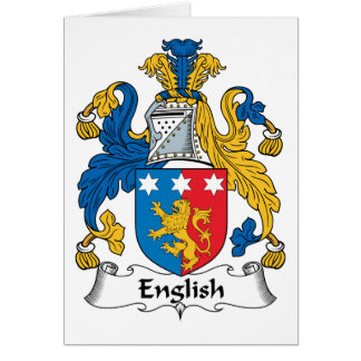 English Family Crest Cards