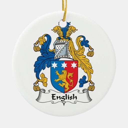 English Family Crest Christmas Ornament